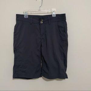 Prana Gray Bermuda Drawstring Camp Hike Shorts 4